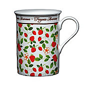 Kitchen Craft Fine Bone China Strawberry Mug, Set of 4