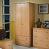 Welcome Furniture Warwick 76.2 cm 2 Drawer Wardrobe - Beech