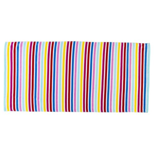 Tesco Pink Stripe Beach Towel