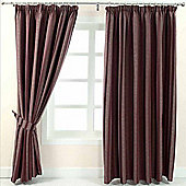 "Homescapes Purple Jacquard Curtain Modern Striped Design Fully Lined - 90"" X 90"" Drop"