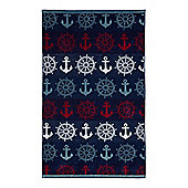 Linea Nauical Anchor Beach Towel