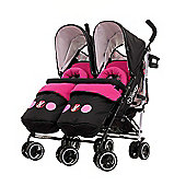 Disney Twin Stroller Bundle inc Footmuffs - Minnie Circles