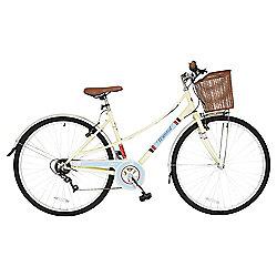 Universal Classic Ladies 700c Hybrid Bike with Basket