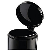 Tesco Round Metal Bathroom Bin, Black