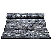 Rug Solid Dark Grey Rug - 90cm x 60cm (2 ft 11.5 in x 1 ft 11.5 in)