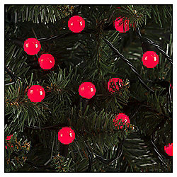100 Berry Christmas Lights, Red