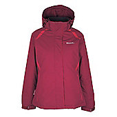 North Womens Snowproof Hooded Fleece Lined Snowboarding Skiing Ski Jacket - Pink