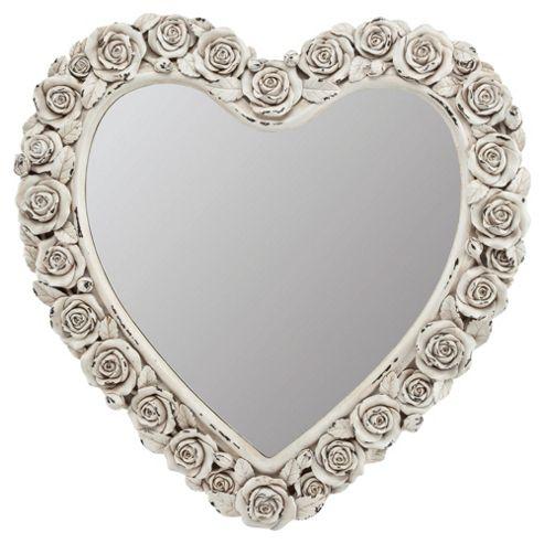 Rose Bud Heart Mirror