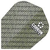 Harrows Darts Carbon Extra Tough Flights Standard Shape Pack of 10 - Green