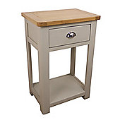 Aspen Painted Oak Sage Grey 1 Drawer Console Table