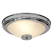 Kansa Lighting Stratton Two Light Flush Ceiling Mount - Chrome