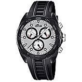 Lotus Mens Black Rubber Chronograph Stopwatch Luminous Hands Watch L18159/1