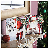 Tesco Traditional Santa Scenes Christmas Cards, 10 Pack