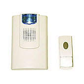 Strobe Wireless Cordless Door Bell Chime 100M 8 Tunes