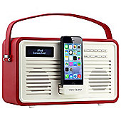 View Quest Retro ColourGen DAB+/FM Radio with iPod Dock (Red, 8 Pin)