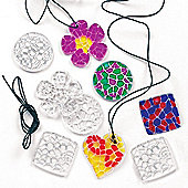 Kids Crafts Crystal Pendant Necklaces (Pack of 12)