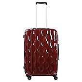 Tesco Gloss Hard Shell 4-Wheel Suitcase, Red Small