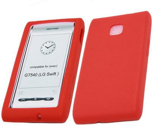 iTALKonline SoftSkin Silicone Case Red - For LG GT540 Optimus
