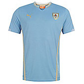 2014-15 Uruguay Home World Cup Football Shirt - Blue