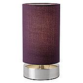 Endon Lighting Table Lamps (Pair) - Aubergine