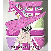 Catherine Lansfield Home Premium Multi Coloured Princess Pug Single Quilt Set