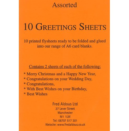 Greeting Sheets Assorted
