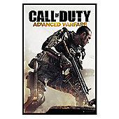 Call of Duty Gloss Black Framed Advanced Warfare Cover COD Poster