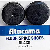 ATACAMA SPIKE SHOES (SET OF FOUR, SATIN BLACK, LARGE)