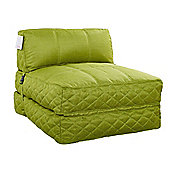 Leader Lifestyle Big Chill 1 Seater Fold Out Chair Bed - Apple Green Fabric