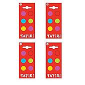 Tatiri Self Adhesive Wooden Spots (Pack of 4)