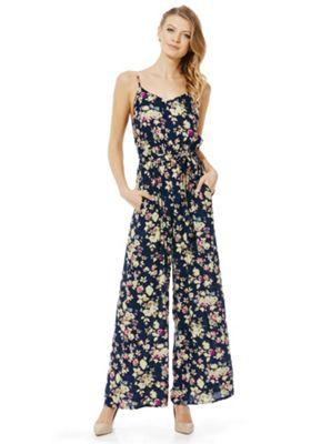 Yumi Floral Print Jumpsuit, Women's, Size: 14