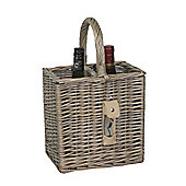 Wicker Valley 2 Bottle Basket