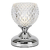 Round Mini Touch Table Lamp in Chrome
