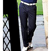 Stromberg Mens Easy Care Classic Golf Trousers - Black