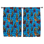 "Teenage Mutant Ninja Turtles Curtains W168xL183cm (66x72"")"
