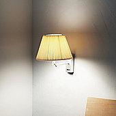 Marset Nolita Cotton Wall Lamp - Aluminium - Raw cotton ribbons - E14 FBA 8W