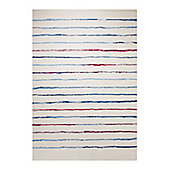 Esprit Joyful Stripes White Woven Rug - 80 cm x 150 cm (2 ft 7 in x 4 ft 11 in)