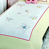 Butterfly 100% Cotton Single Bedding