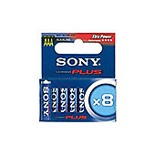 Sony AM3M8A Stamina Plus AAA Alkaline Batteries Pack of 8