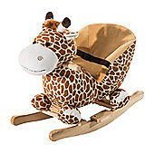HOMCOM Kids Rocking Giraffe Seat with Sound