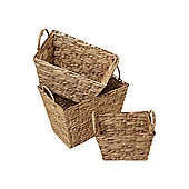 Linea Set Of 3 Water Hyacinth Storage Baskets