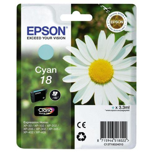 Epson Singlepack Cyan 18 Claria Home Ink