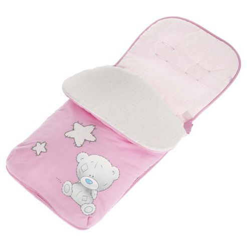 Obaby Footmuff Tiny Tatty Teddy Pink