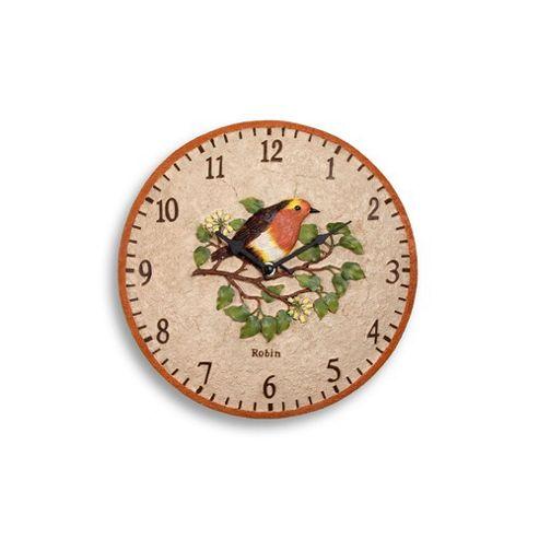 Westmeters 9086Rob Indoor/Outdoor Rnd Clock Robin