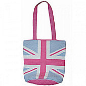 Woven Magic Union Jack Tote Bag - Pink