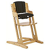 BabyDan DanChair High Chair Nature With Black Cushion