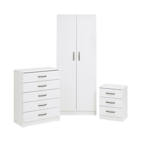 Ideal Furniture Budapest Five Drawer Chest - White