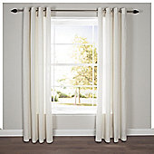 Tesco Plain Canvas Eyelet Curtains - Ivory