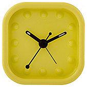 Acctim Zak Square Metal Alarm Clock Lemon