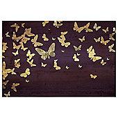 Gold Glitter Butterflies 80x50cm